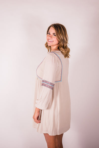 Cotton & Rust Boutique + ENCRM Normetta Embroidered Tunic