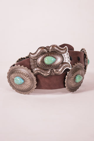 Cotton & Rust Boutique + LB Sade Stone Concho Belt