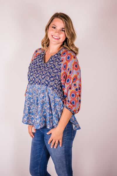 Cotton & Rust Boutique + IJ Melissa Blouse