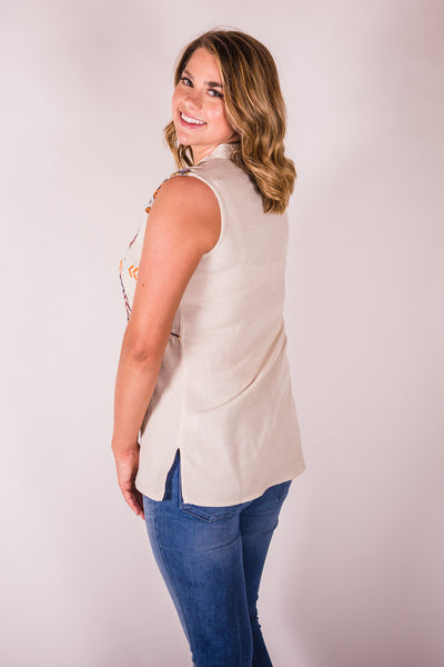 Cotton & Rust Boutique + IJ Embroidered Sleeveless Tunic