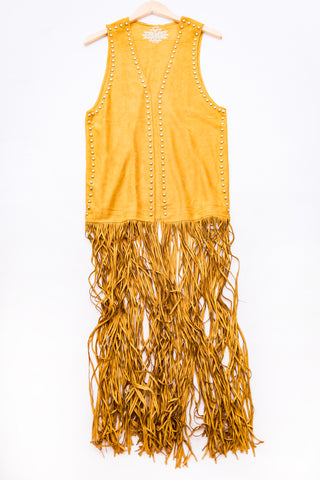 Cotton & Rust Boutique + FGM Montgomery Studded Fringe Duster