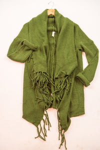 Cotton & Rust Boutique + FGM Isabella Fringe Hem Cardigan