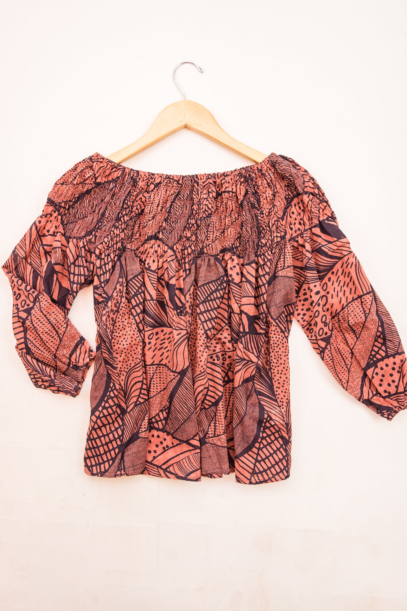 Cotton & Rust Boutique + FGM Trixie Off Shoulder Top