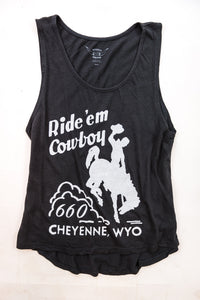 Cotton & Rust Boutique BB Ride 'Em Cowboy Long Rad Tank