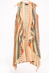 Cotton & Rust Boutique + LB Serape Long Vest