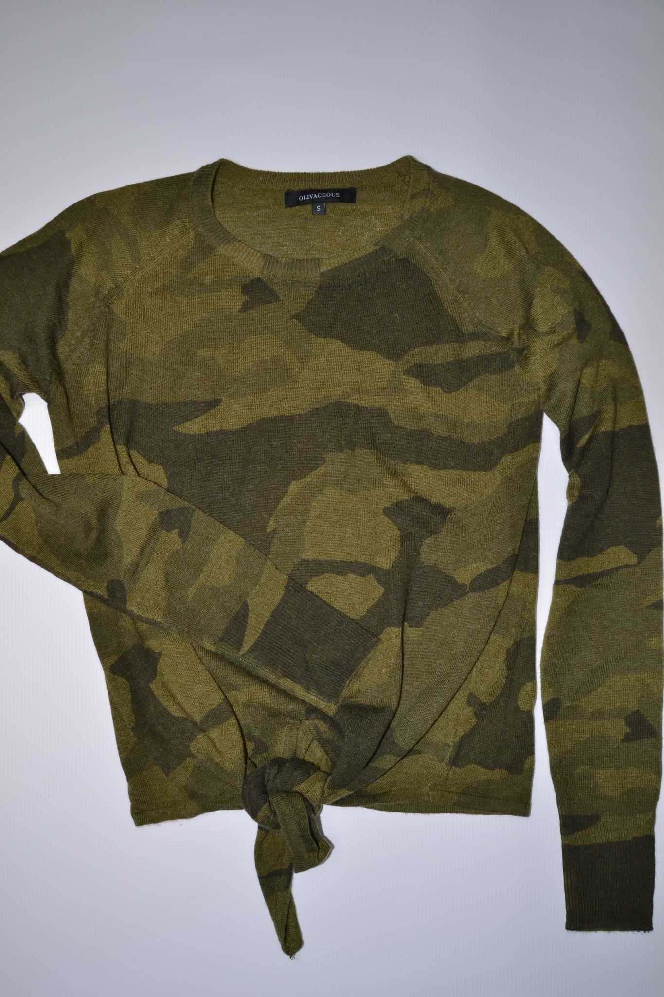 Cotton & Rust Boutique + Not Your Boyfriends Camo Sweater