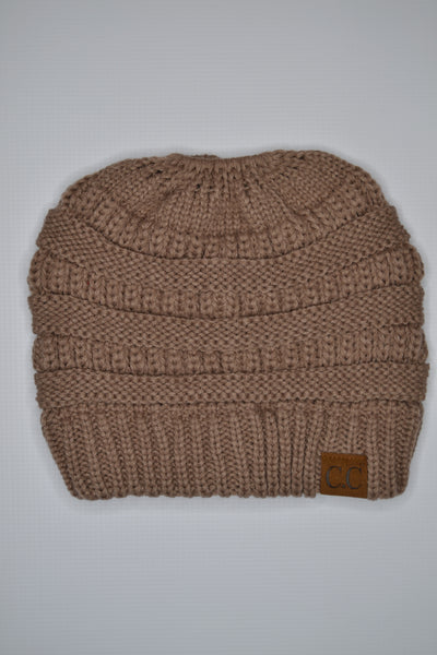 Cotton & Rust Boutique + CC Messy Bun Beanie