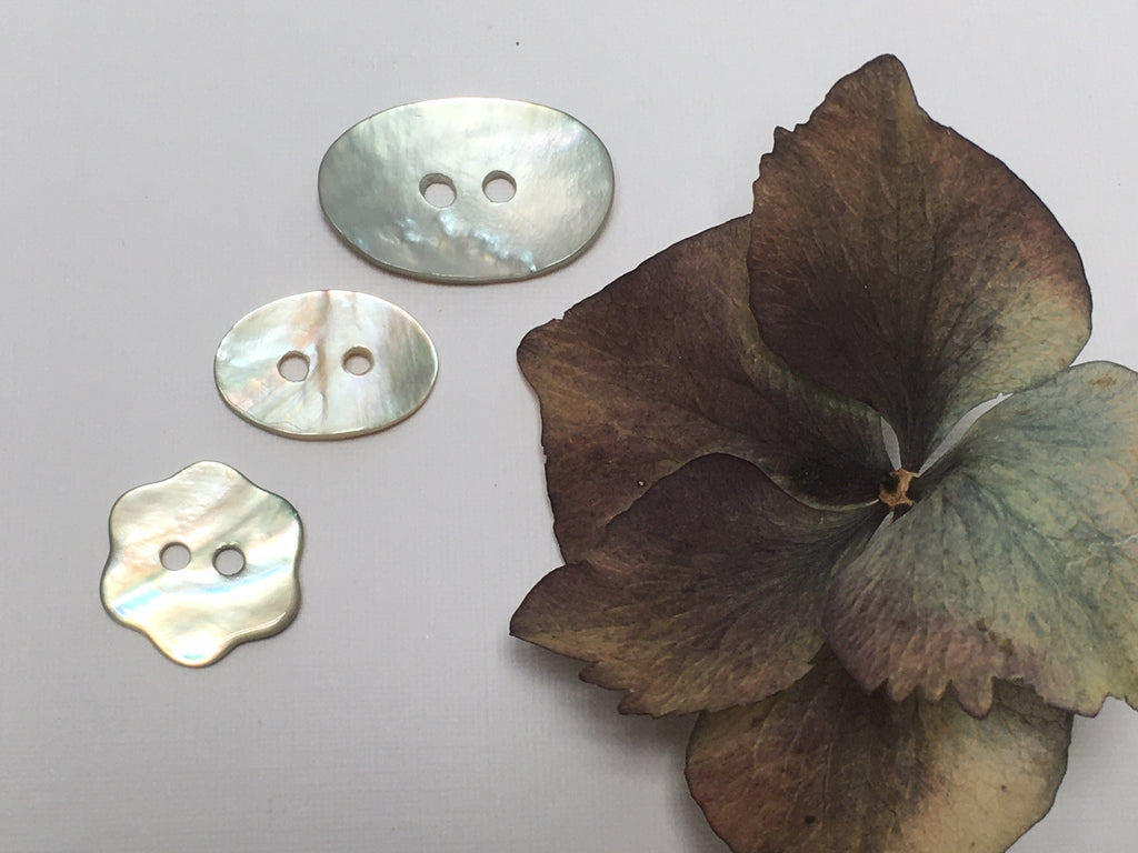 Shell Buttons - Flower & Oval