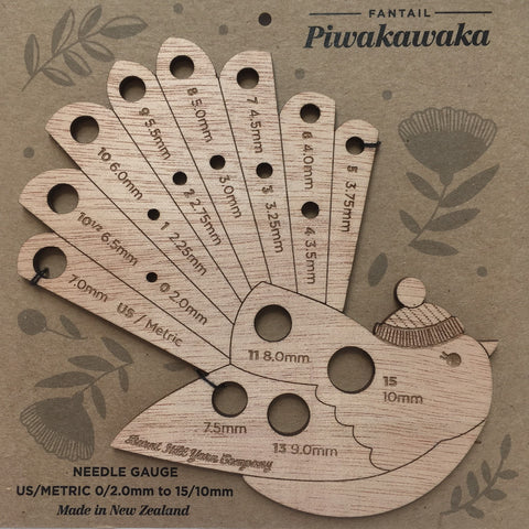 Piwakawaka – Fantail Native Bird themed NEEDLE GAUGE