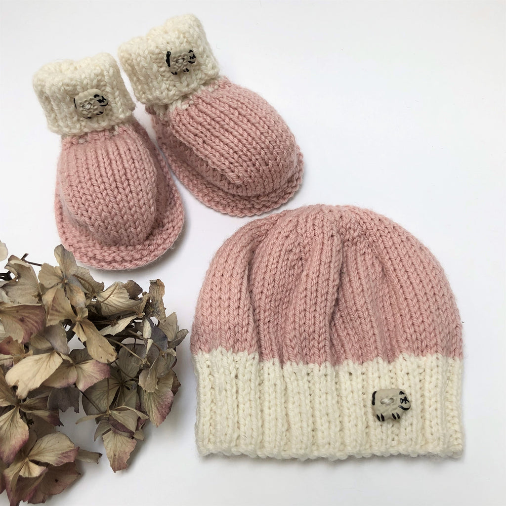Knitting Pattern For 'Top and Tail' Bootee and Beanie Set