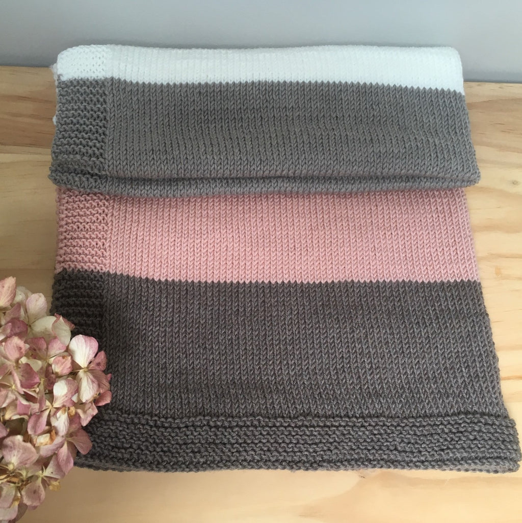 Nordica 8ply Striped Baby Blanket