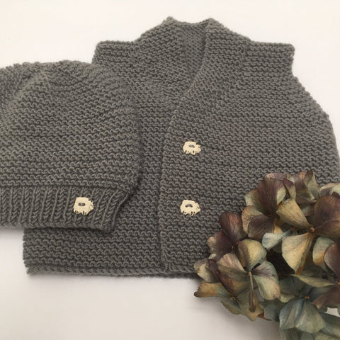 Pure New Zealand Vest and Beanie