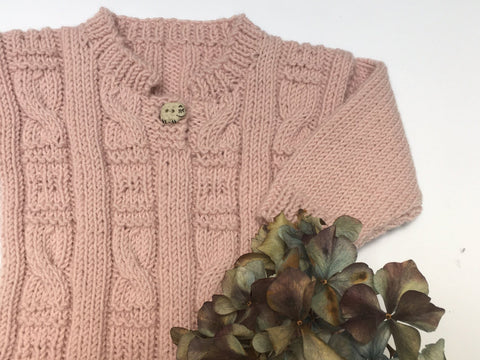 Easy Cabled Sweater K396