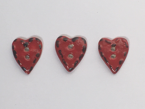 Handmade Heart Buttons