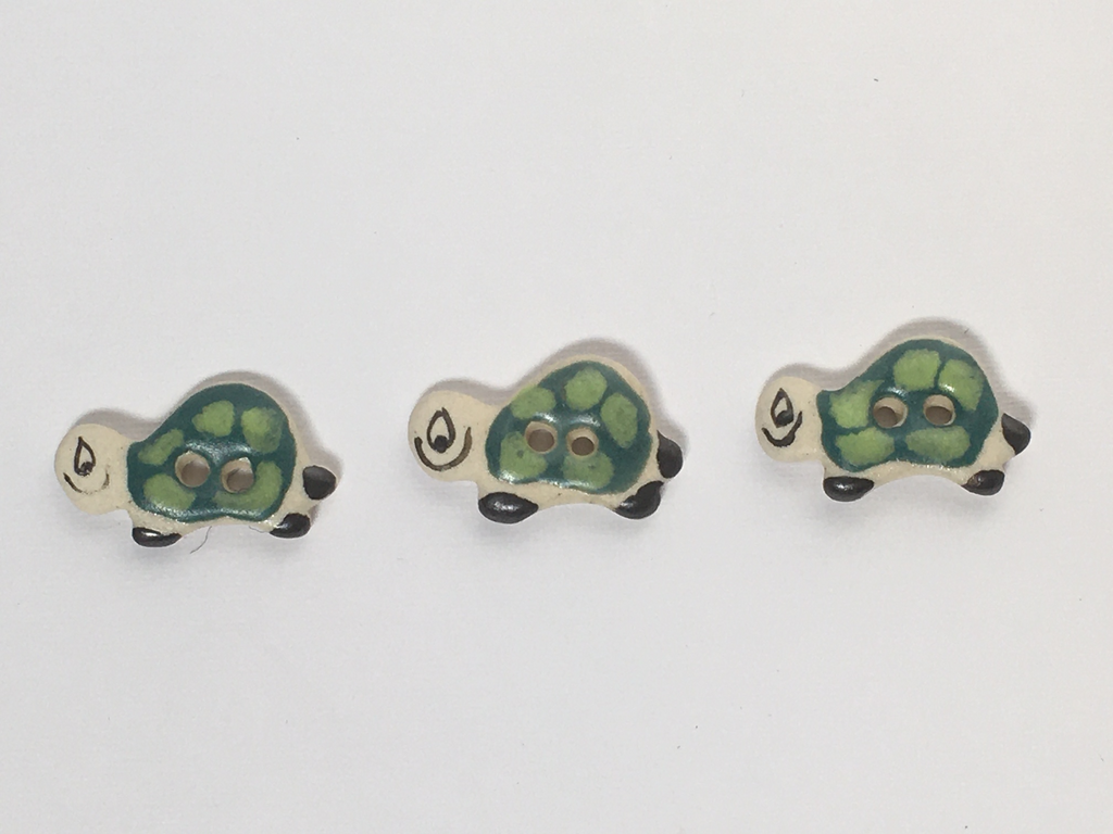 Handmade Turtle buttons