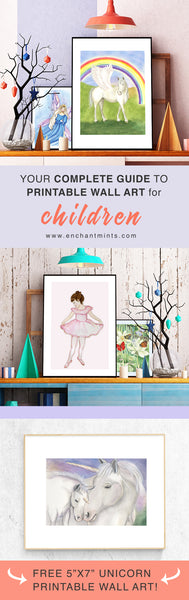 Your Complete Guide to Printable Wall Art for Children | A Blog post from Enchantmints