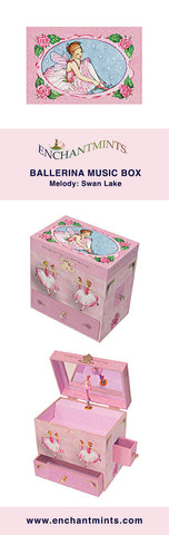 Enchantmints Ballerina Music Box for treasures and keepsakes.  The perfect ballerina lovers gift!
