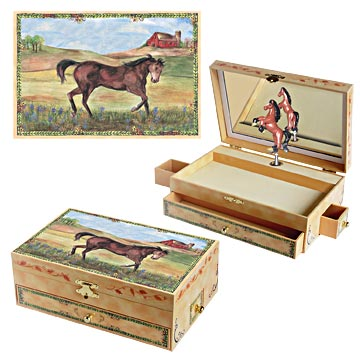 Stallion Stable Music Box Three-in-one view | Beautiful children's gifts and decor from Enchantmints