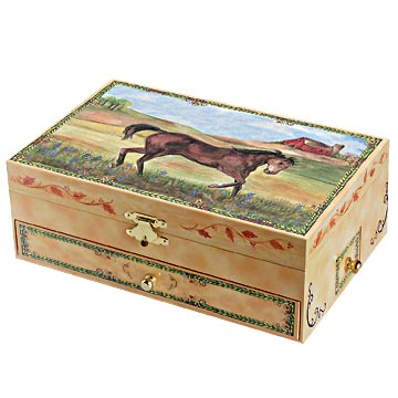 Stallion Stable Music Box closed | beautiful childrens gifts and decor from Enchantmints