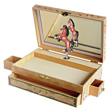 Stallion Stable Music Box Open view | Beautiful children's gifts and decor from Enchantmints