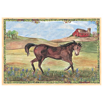 Stallion Stable Music Box Top view | Beautiful children's gifts and decor from Enchantmints