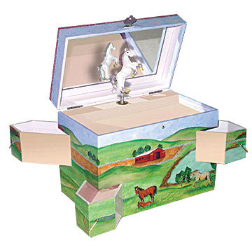 Hideaway Horse Music Box Open View | Beautiful children's gifts and decor from Enchantmints