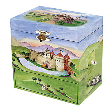Dragon Castle Music Box closed | beautiful childrens gifts and decor from Enchantmints