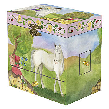 Horse Fairy Music Box closed | beautiful childrens gifts and decor from Enchantmints