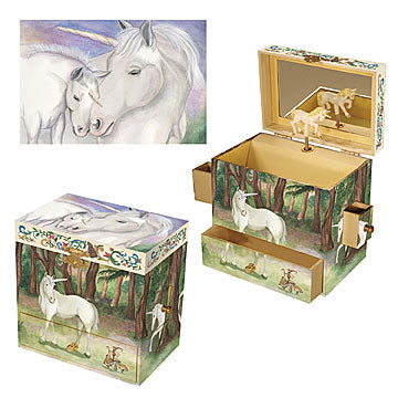 Unicorn Music Box Three-in-one View | Beautiful gifts and decor for children from Enchantmints