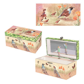 Quail Trail Music Box Three-in-one | Beautiful gifts and decor for children from Enchantmints