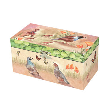 Quail Trail Music Box Closed | Beautiful gifts and decor for children from Enchantmints