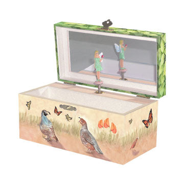 Quail Trail Music Box Open | Beautiful gifts and decor for children from Enchantmints