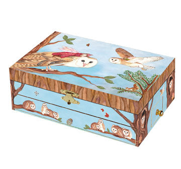 Owl Travellers Music Box closed | beautiful childrens gifts and decor from Enchantmints