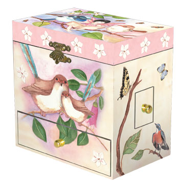 Bird Music Box closed | beautiful childrens gifts and decor from Enchantmints
