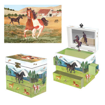 Graceful Gallop Music Box three-in-one view | Beautiful gifts and decor for children from Enchantmints