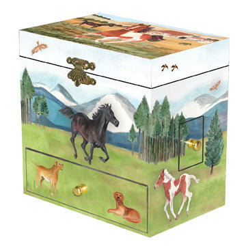 Graceful Gallop Music Box closed | beautiful childrens gifts and decor from Enchantmints