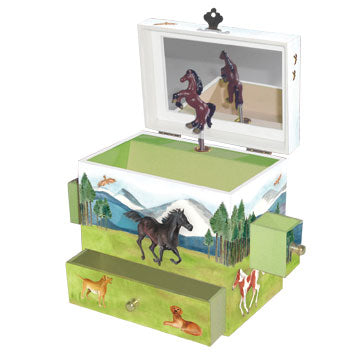Graceful Gallop Music Box open view | Beautiful gifts and decor for children from Enchantmints