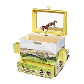 On The Farm Music Box Open View | Beautiful childrens gifts and decor from Enchantmints