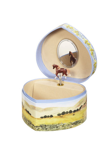 Love Of Horses Music Box Open View | Beautiful children's gifts and decor from Enchantmints
