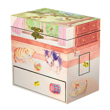 Curious Kittens Music Box | Beautiful childrens gifts and decor from Enchantmints