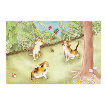 Curious Kittens Music Box Top View | Beautiful childrens gifts and decor from Enchantmints