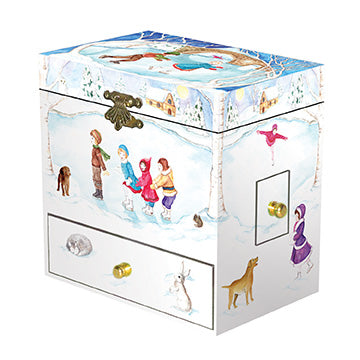 Let's Go Ice Skating Music Box closed | beautiful childrens gifts and decor from Enchantmints