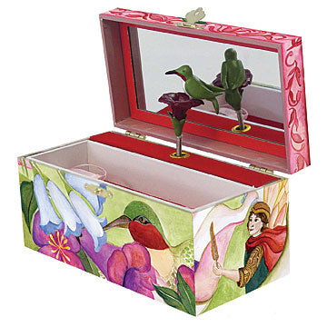 Thumbelina music box open view | beautiful childrens gifts and decor form Enchantmints