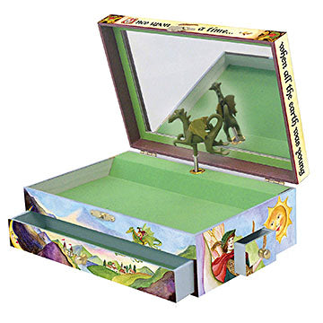 Dragons world music box open view | beautiful childrens gifts and decor from enchantmints