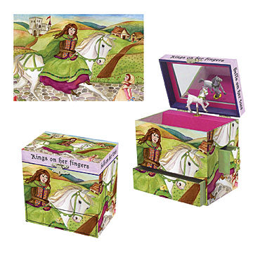Rings on her Fingers Music Box three-in-one view | Beautiful gifts and decor for children from Enchantmints