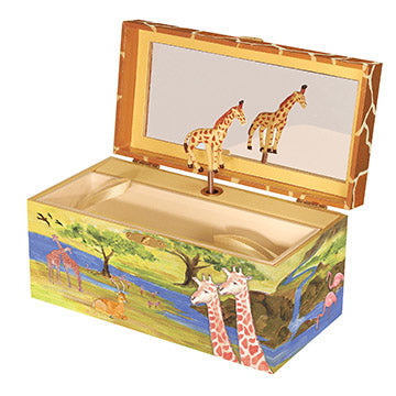 Giraffe Music Box Open View | Beautiful childrens gifts and decor from Enchantmints