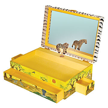 Zebra Music Box open | Beautiful childrens gifts and decor from Enchantmints