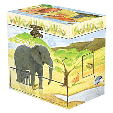 Savanna Music Box closed | beautiful childrens gifts and decor from Enchantmints