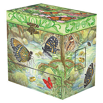 Butterfly Music Box closed | beautiful childrens gifts and decor from Enchantmints