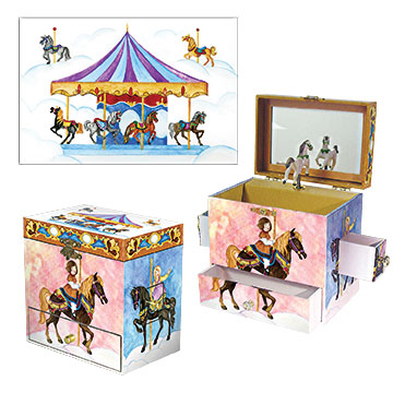 Carousel Music Box Three-in-one View | Beautiful childrens gifts and decor from Enchantmints